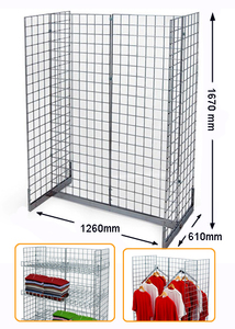 Wire Gondola Gridwall Rack MW-G003