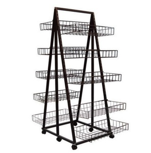 Double Sided Display Rack W/10 Baskets                    MW-B012