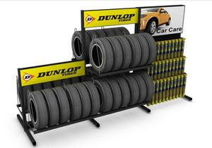 Double Sided Tire Display Rack                    MD-C007