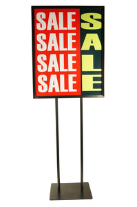 Black Poster Stand W/Weighted Base                     MF22BK