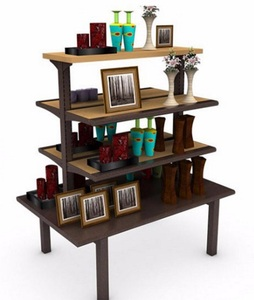 Four Tiered Display Table w/ 4 Shelves, Rectangular      MD-C004