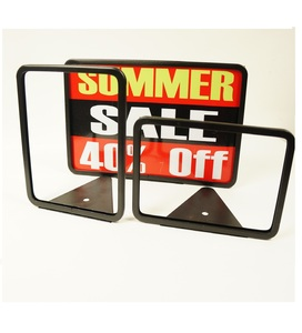 Metal Sign Holder W/Wedge Base                             MF-W-117