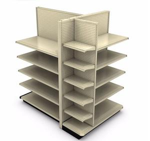 Gondolar Shelving W/ 21 shelves               MD-S002