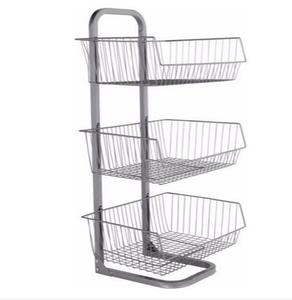 3-Baskets Wire Mercandiser Rack                   MW-B002