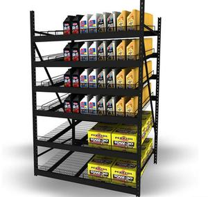 Six Angled Shelves Display for Car Products    MW-D007