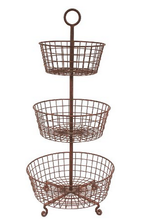 Round Mobile Stand W/three Baskets                     MW-015